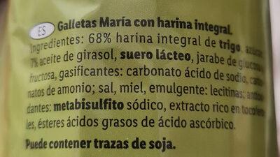 María integral - Ingredienti - es
