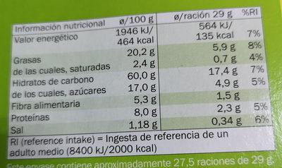 Digestive Naranja & Soja - Información nutricional - es