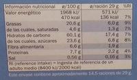 Digestive Avena con Chocolate - Informació nutricional