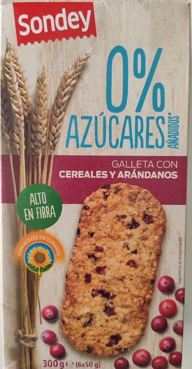 Galletas con cereales y arándanos - Producto - es