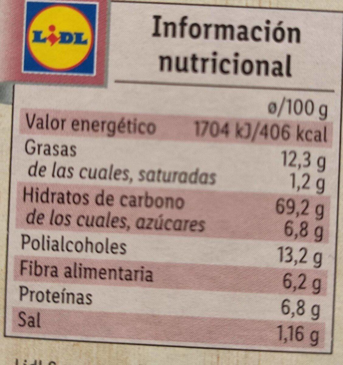 Galletas con cereales y arándanos - Información nutricional - es