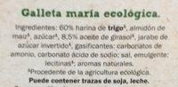 María Original Bio - Ingredients
