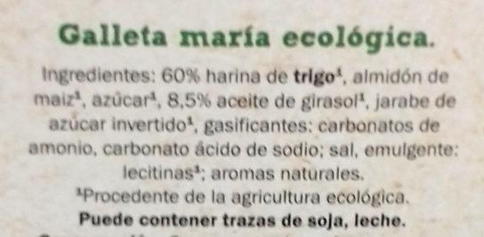Bio  María orgánica original - Ingredientes - es