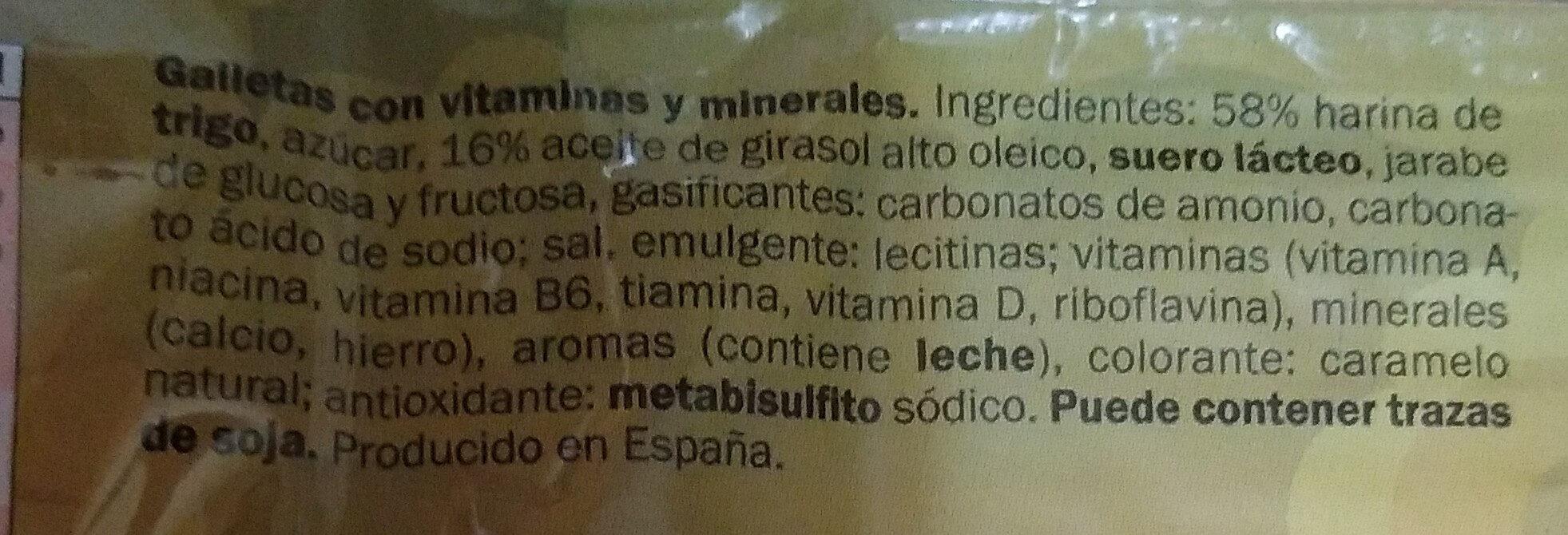 Galle totem - Ingredientes - es