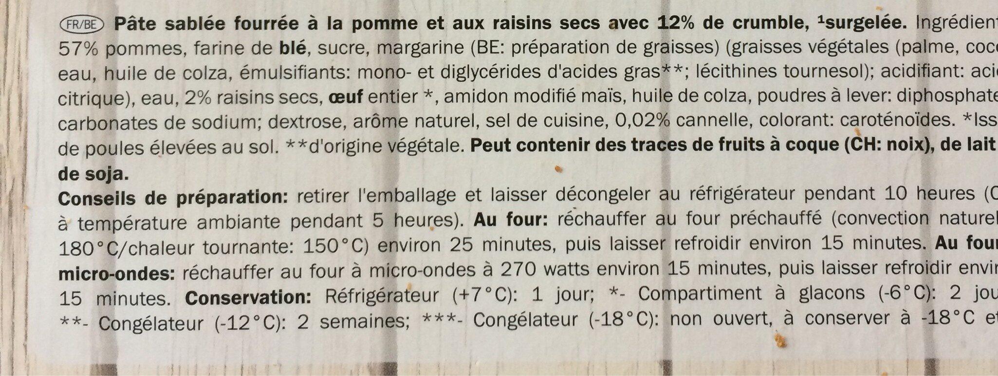 Tarta de manzana - Ingrédients - fr