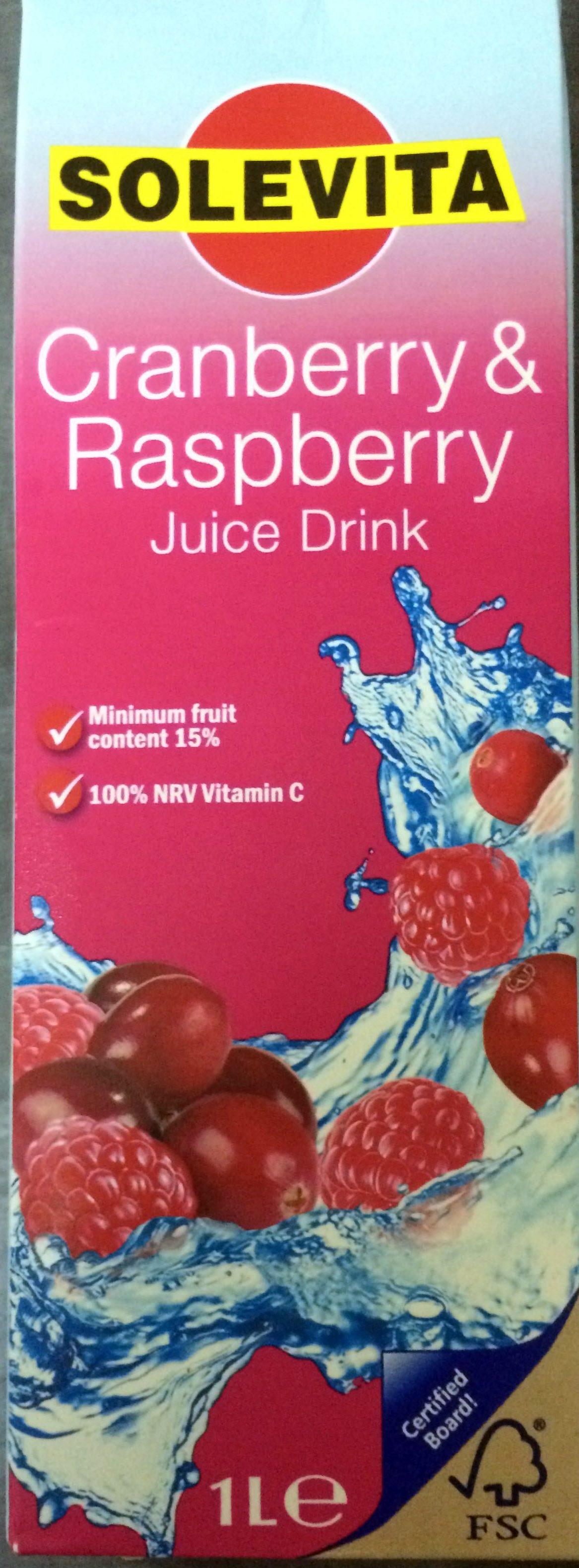 Cranberry & raspberry juice drink - Product - en