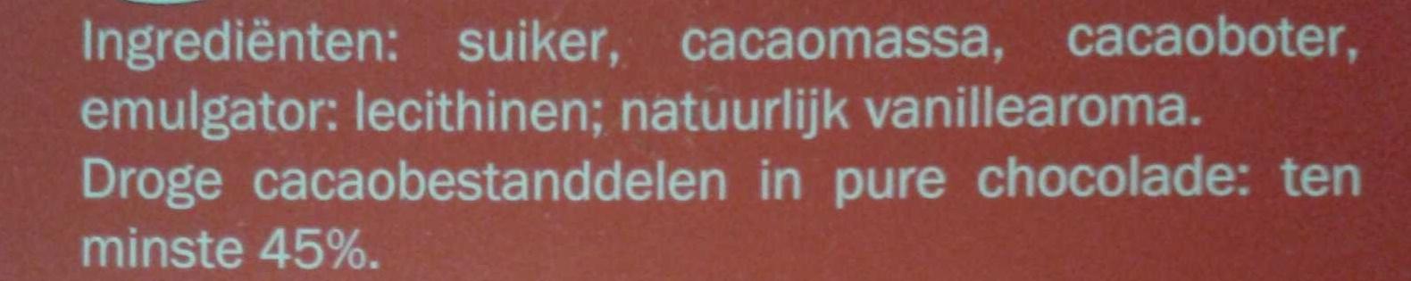 Pure chocolade - Ingrediënten - nl