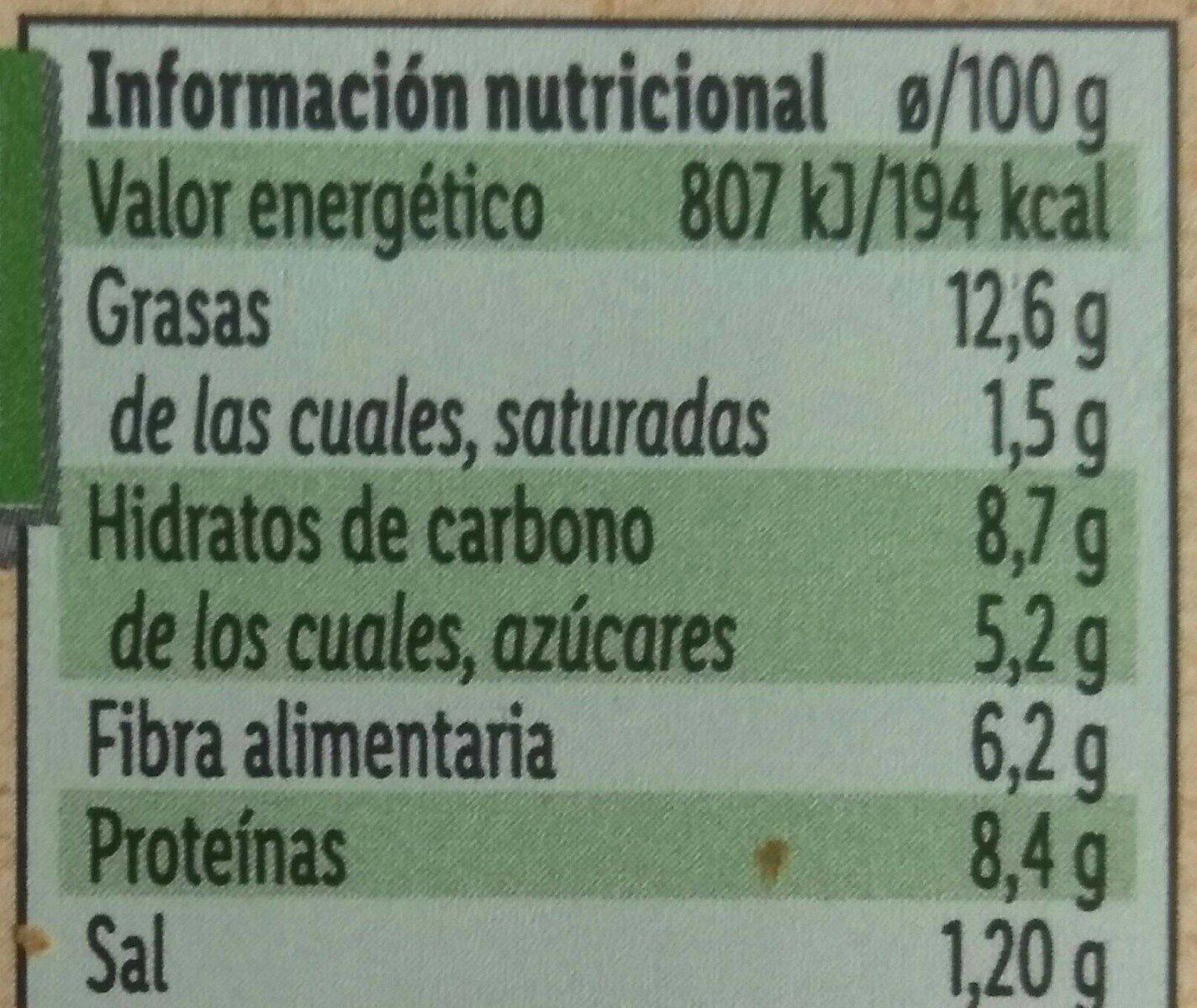 Untable vegetal escalivada - Voedingswaarden - es