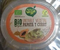 Untable vegetal papaya y curry - Produit - es