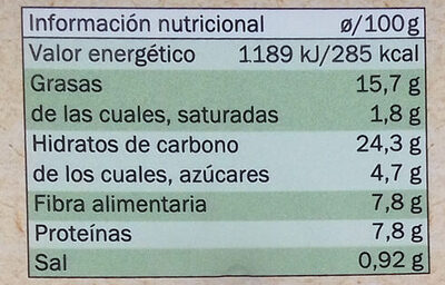 Untable vegetal rábano picante y manzana - Nutrition facts - es