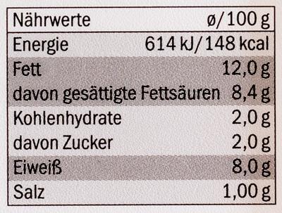 Fromage de chèvre - Nährwertangaben
