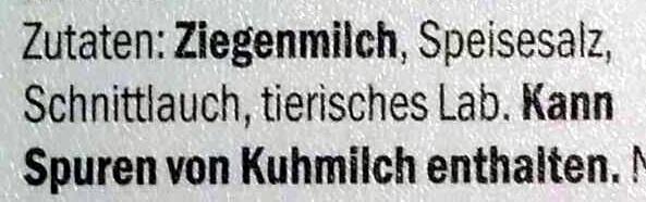 Ziegenfrischkäse Schnittlauch - Ingredients