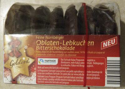 Nürnberger Oblaten-Lebkuchen Bitterschokolade - Produit - de