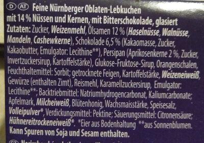 Obladen-Lebkuchen - Ingrediënten