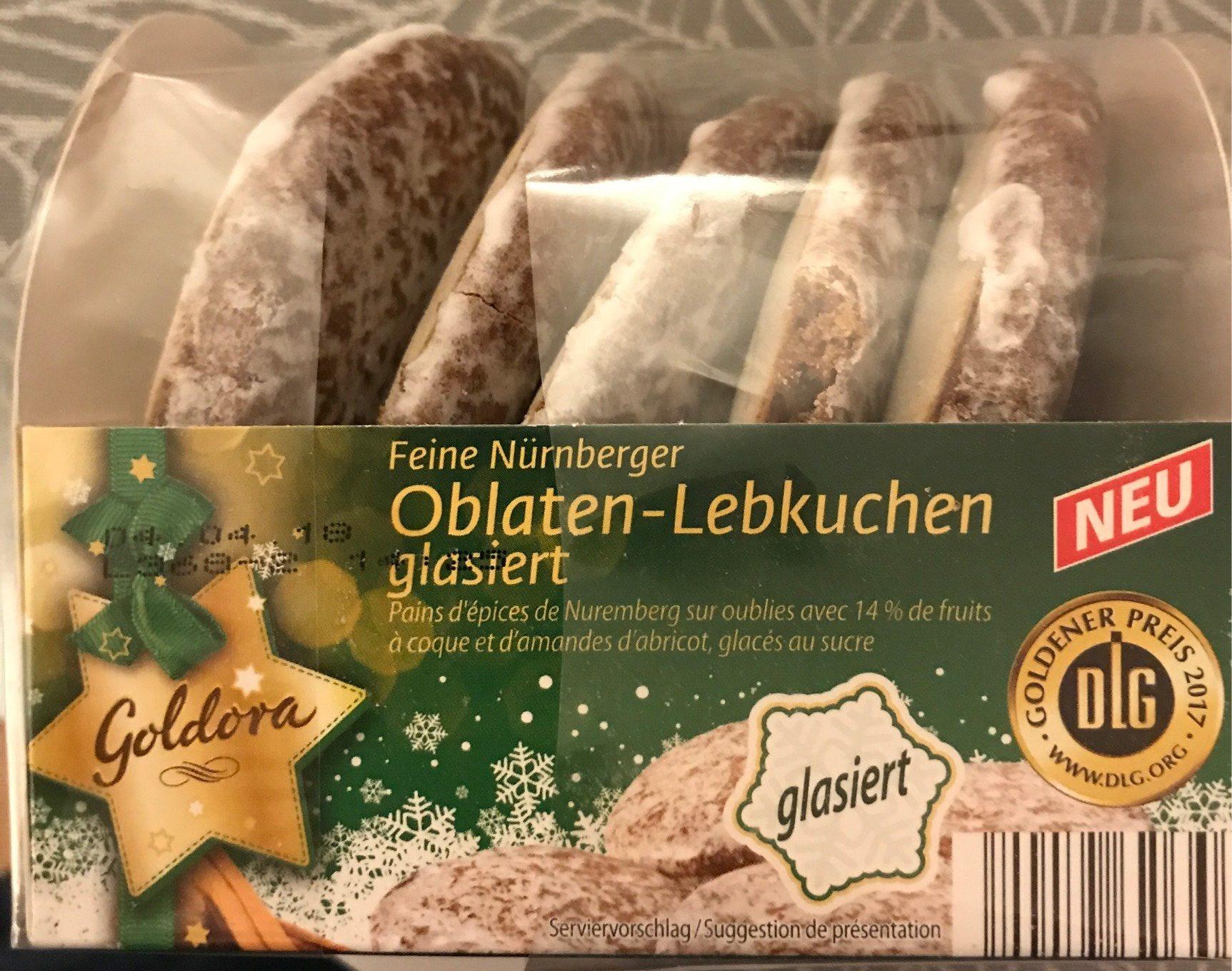Pain d'épices de Nuremberg sur Oublies - Produit