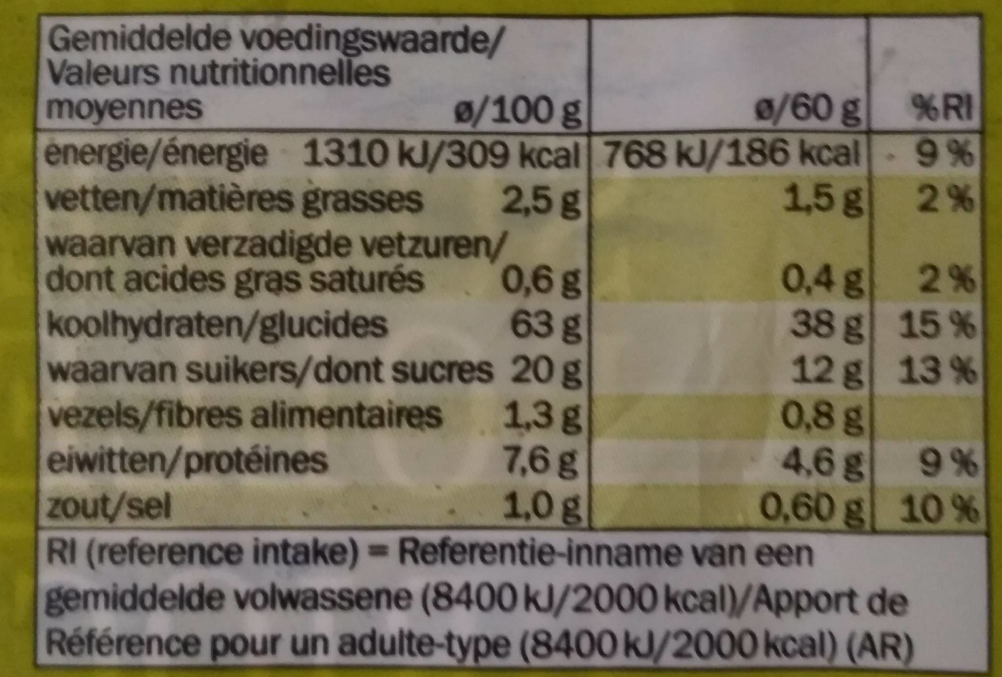 Brioche au sucre - Nutrition facts - fr