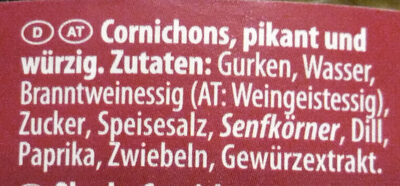 Cornichons épicés - Ingredients