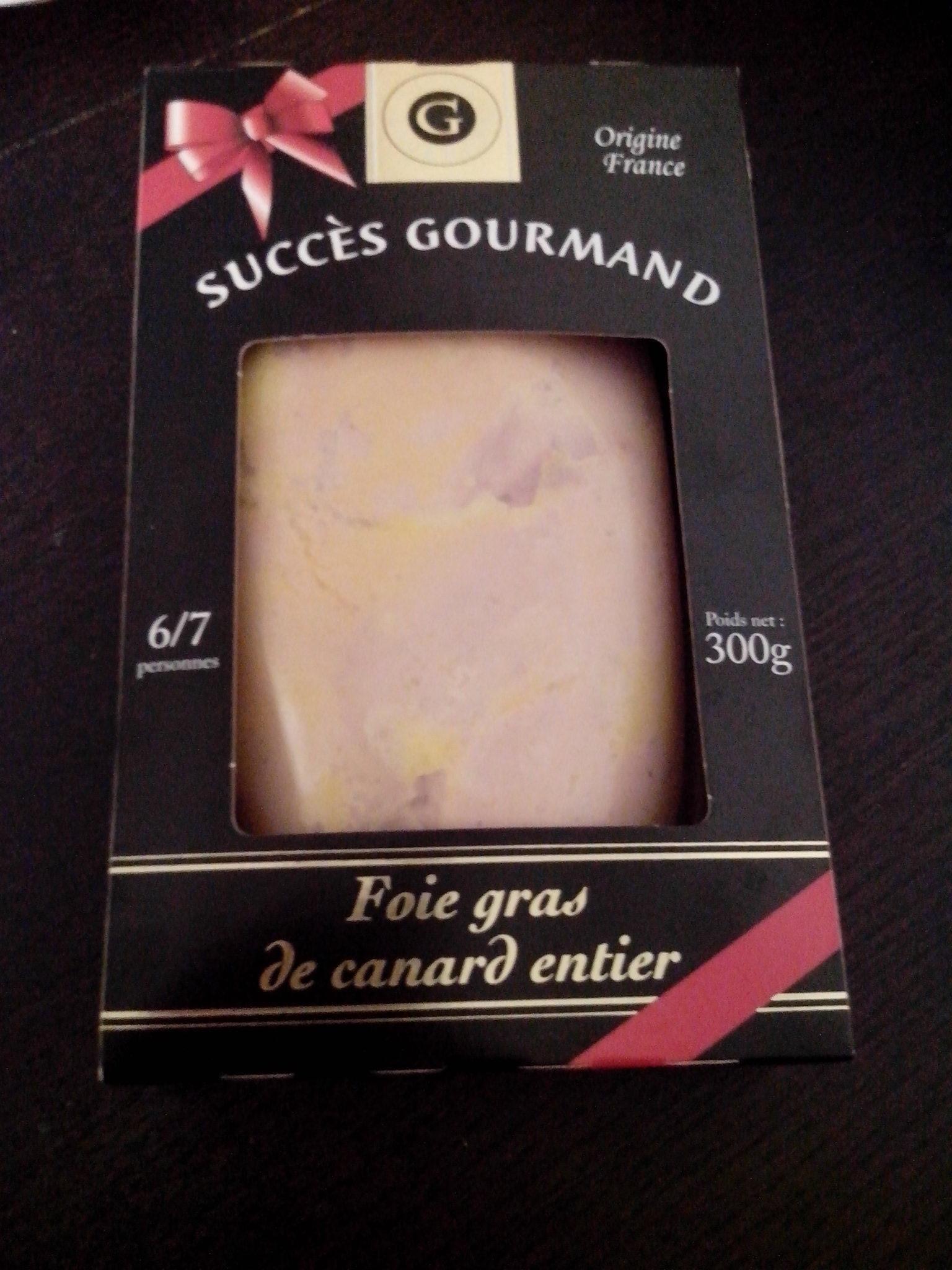 Foie gras de canard entier g succes gourmand 300 g 6 - Quantite foie gras par personne ...