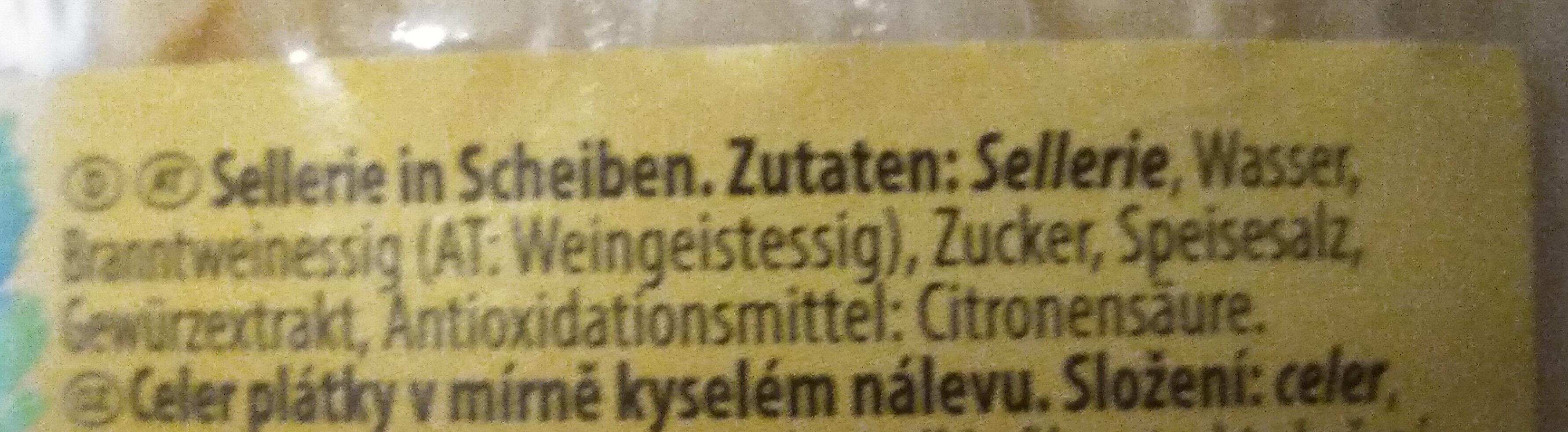 Sellerie in Scheiben (leicht sauer) - Ingrédients