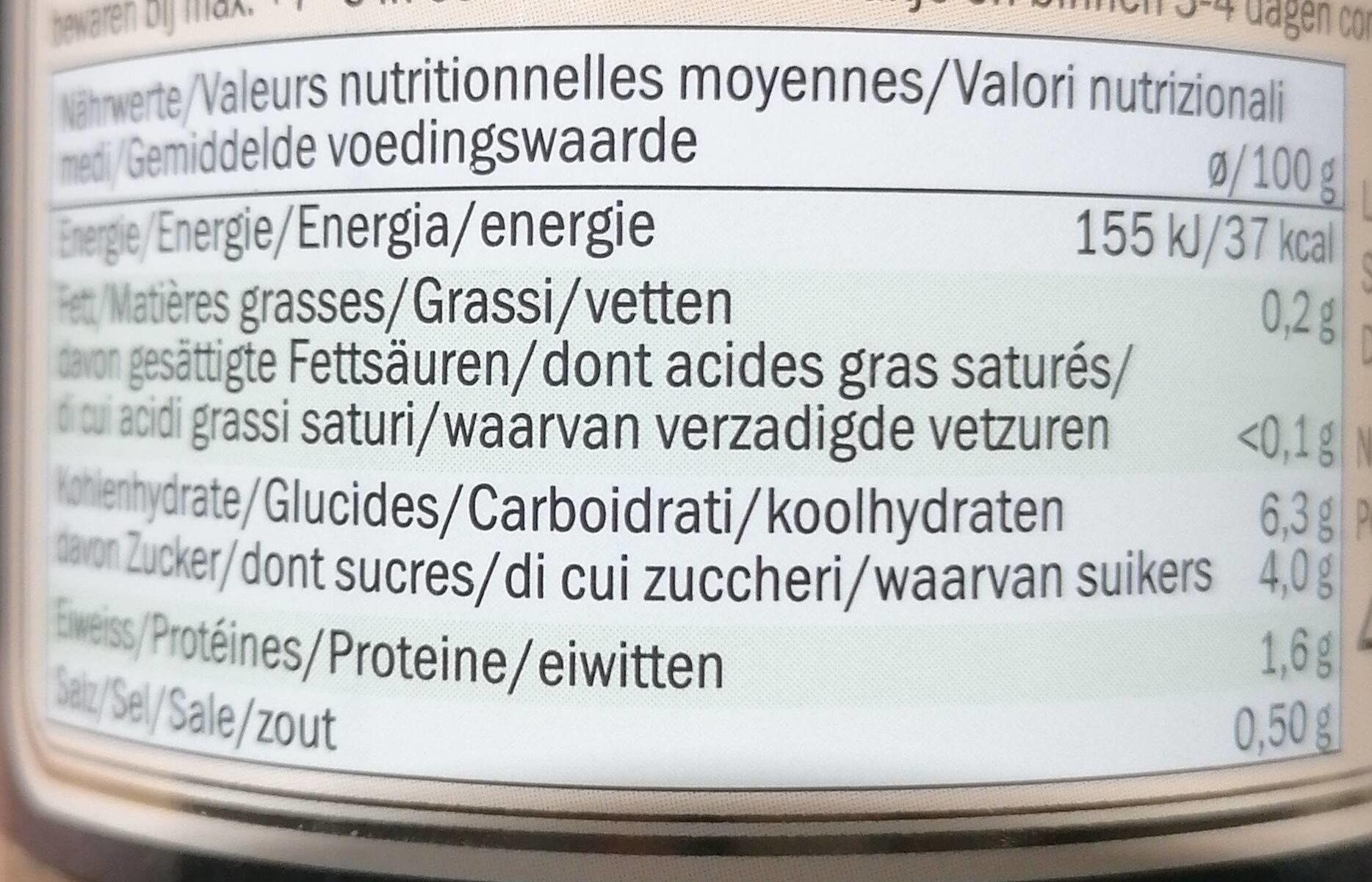 Polpa di pomodoro con erbe - Nährwertangaben - pl