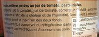 Tomates Pelées - Ingrédients - fr