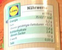 Tomates Pelées - Informations nutritionnelles - fr