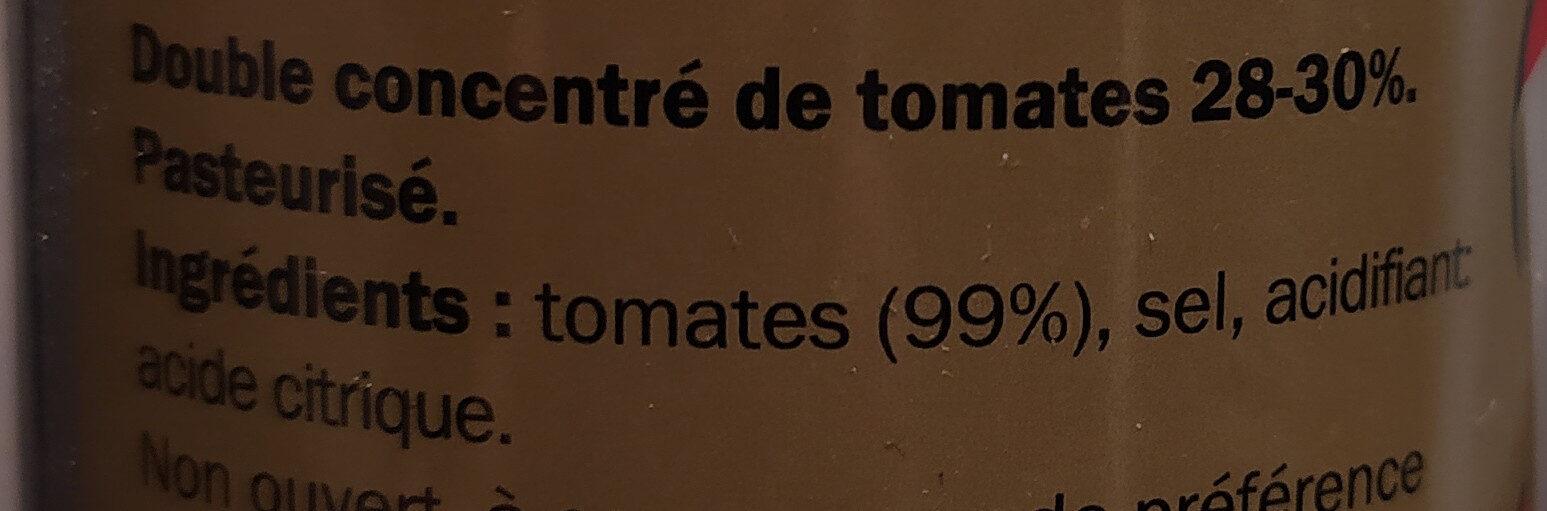 Double Concentré de Tomates - Ingredienti - fr