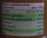 Double Concentré de Tomates - Informazioni nutrizionali - fr