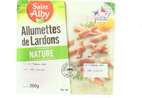 Allumettes de lardons nature - Product - fr