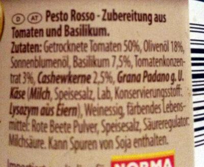 Pesto Rosso - Ingrédients