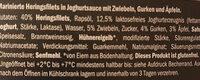 Heringsfilets in Joghurtsauce - Ingrediënten - de