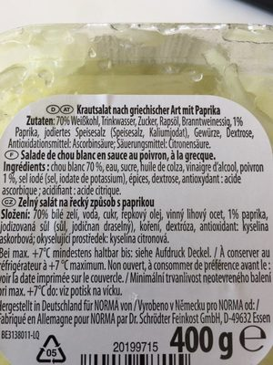 Salade de chou blanc - Ingrédients - fr