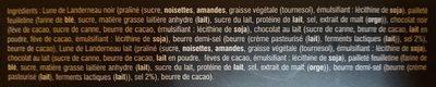 La Lune de Landerneau Chocolat Noir - Ingredients - fr