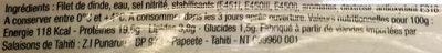 Blanc de Dinde Fumée Le Campagné - Ingredients - fr