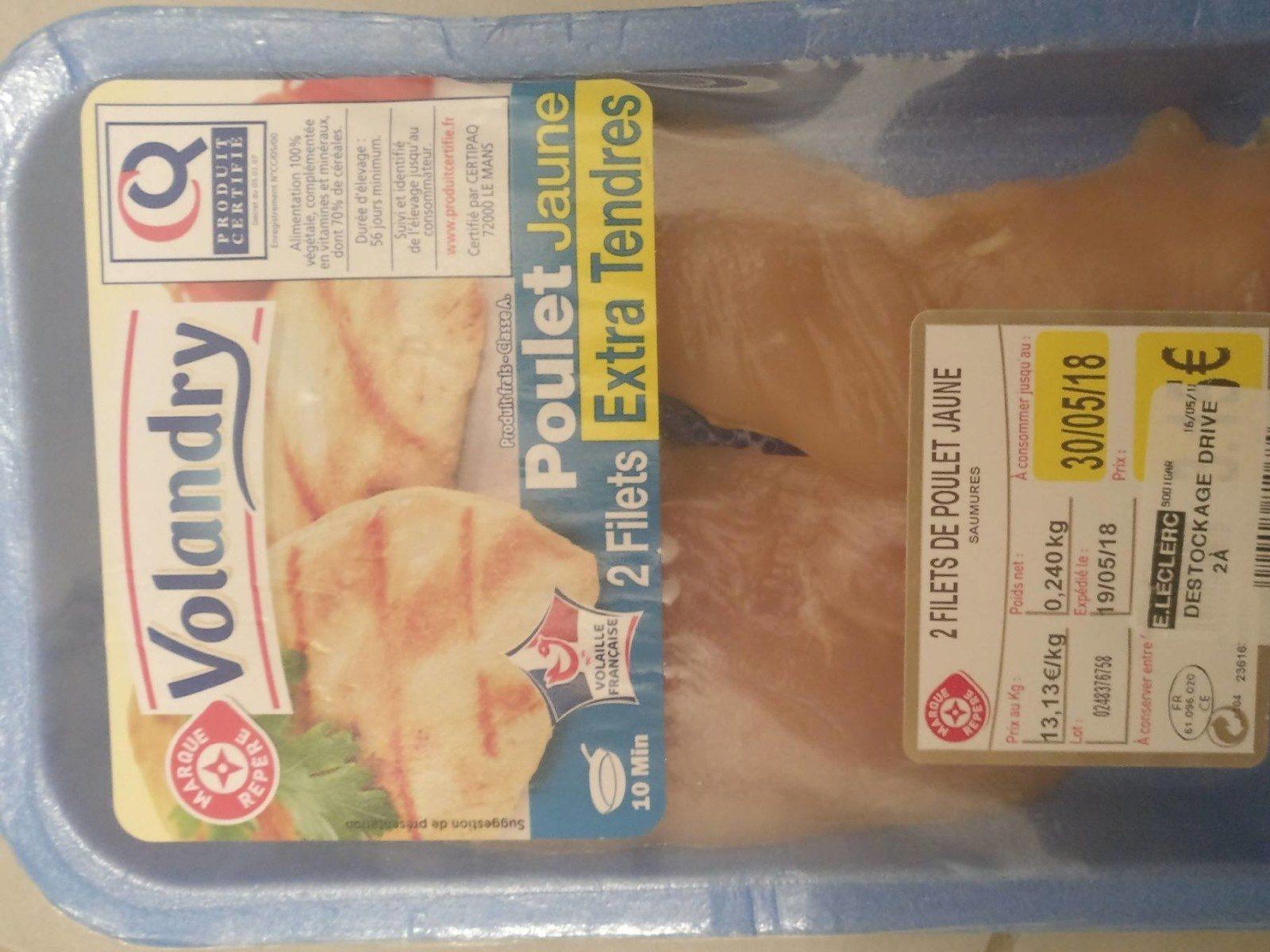 Filets poulet jaunes Extra Tendre - Produit - fr