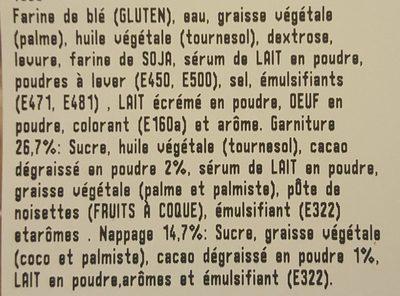 Dots Fourrés Caramel - Ingredients
