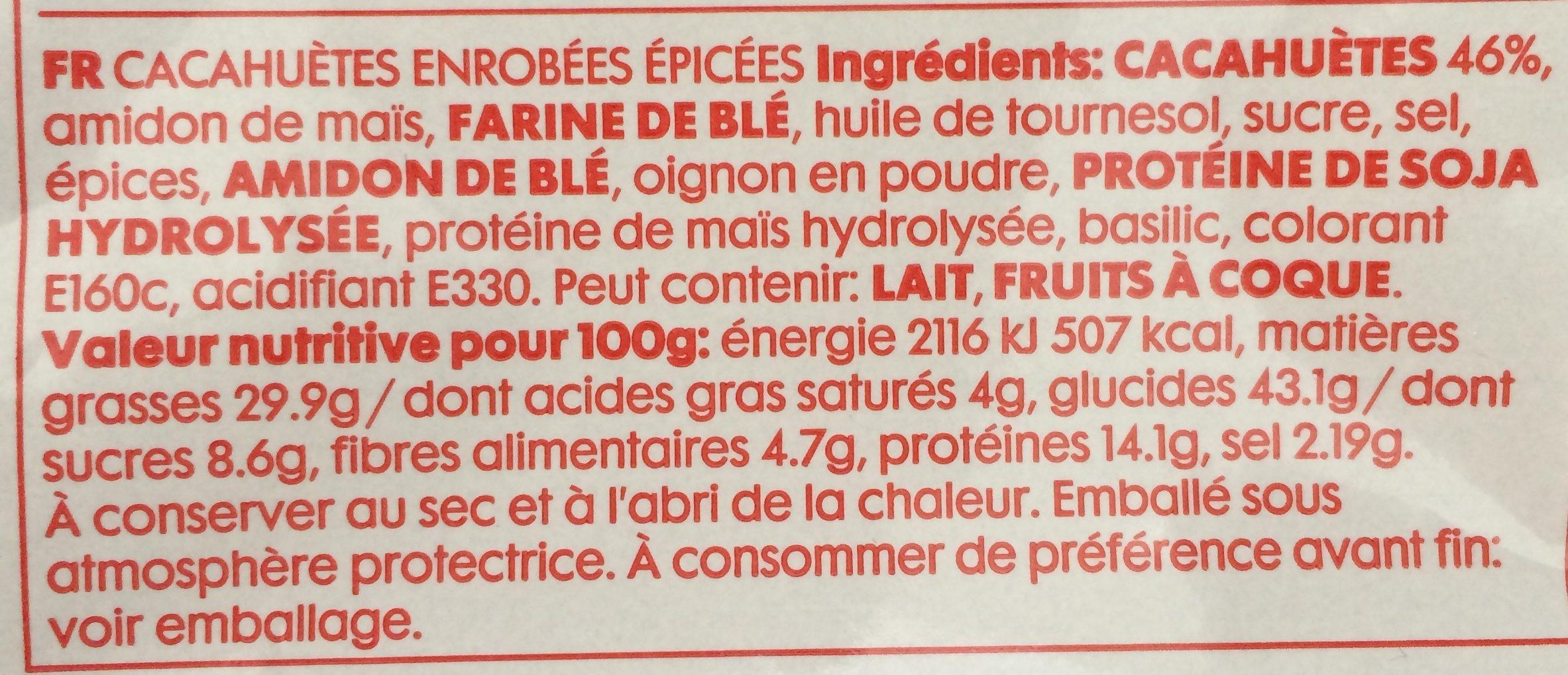 Cacahuète épicées - Ingredients - fr