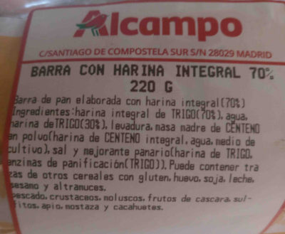 Barra integral - Ingredients - en