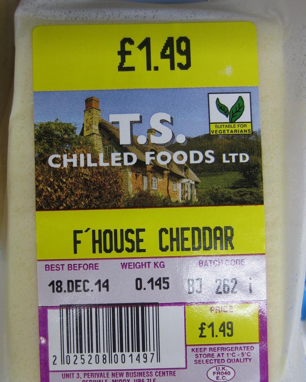 F'house cheddar - Produit