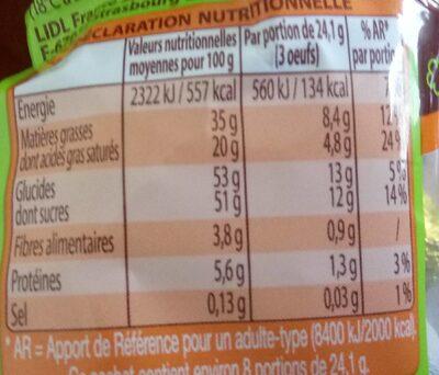 Délices de pâques - Informations nutritionnelles - fr