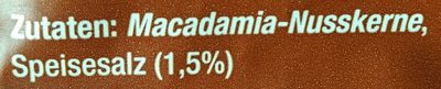 Makadamia (geröstet, gesalzen) - Inhaltsstoffe