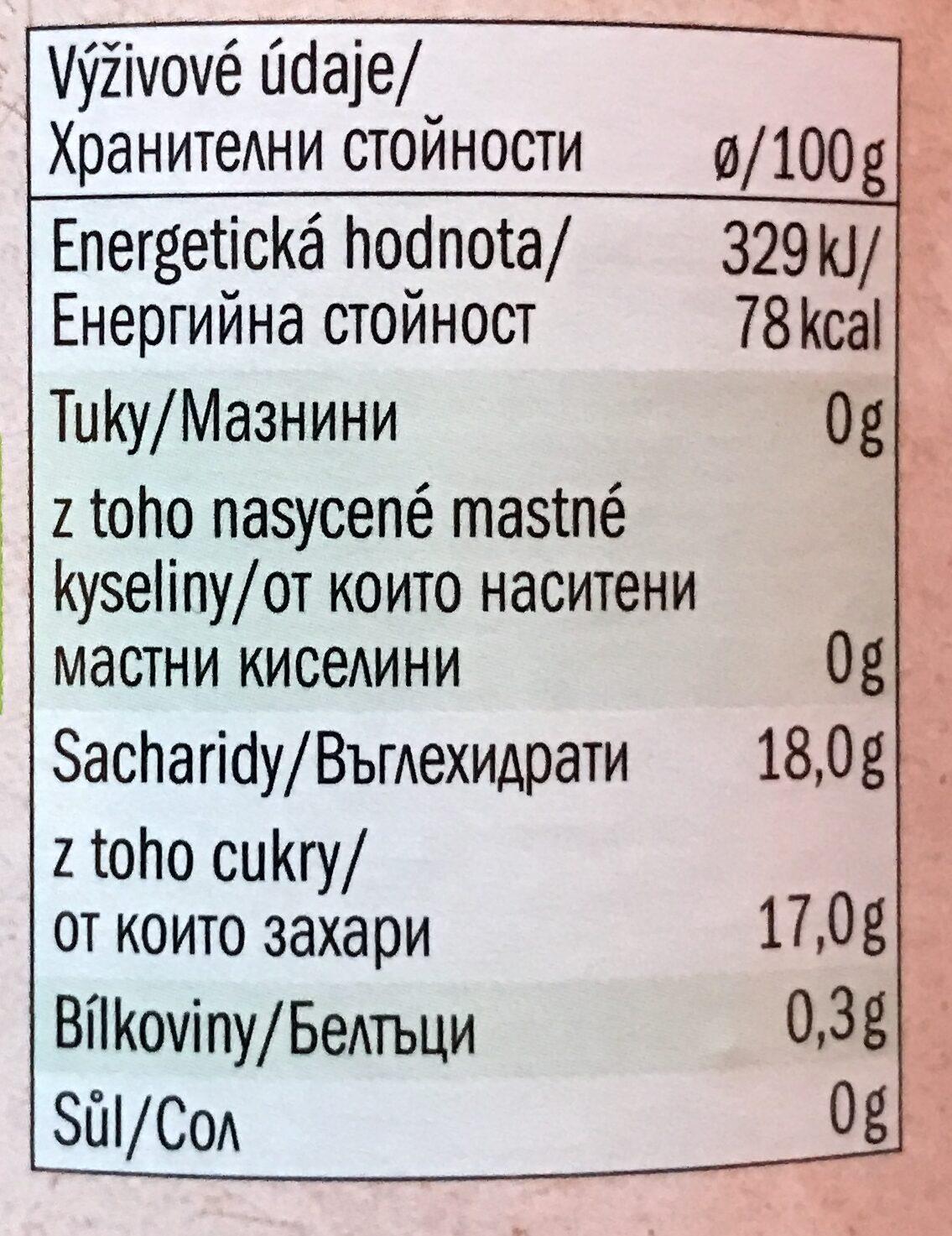 Bio jablečný protlak - Nährwertangaben - cs