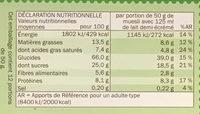Muesli Croustillant aux Fruits - Voedingswaarden