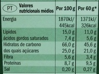 Muesli Croustillant aux fruits / Crunchy Muesli with mixed fruit - Nutrition facts