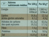 Crunchy muesli - Chocolate & Nuts - Informação nutricional - pt