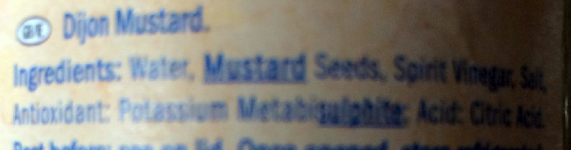 French Mustard - Ingredients