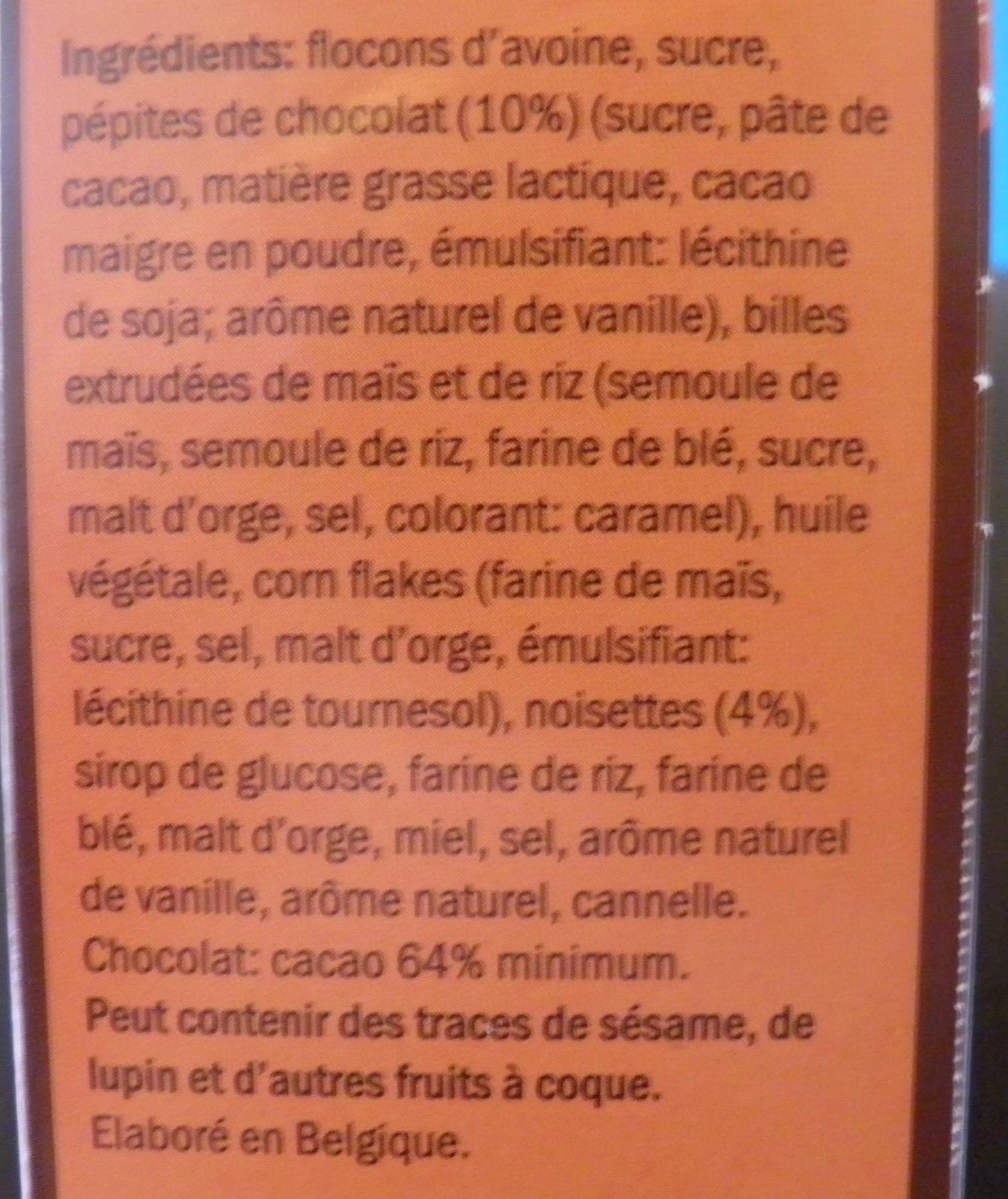 Master crumble chocolat noisette - Ingredients - fr