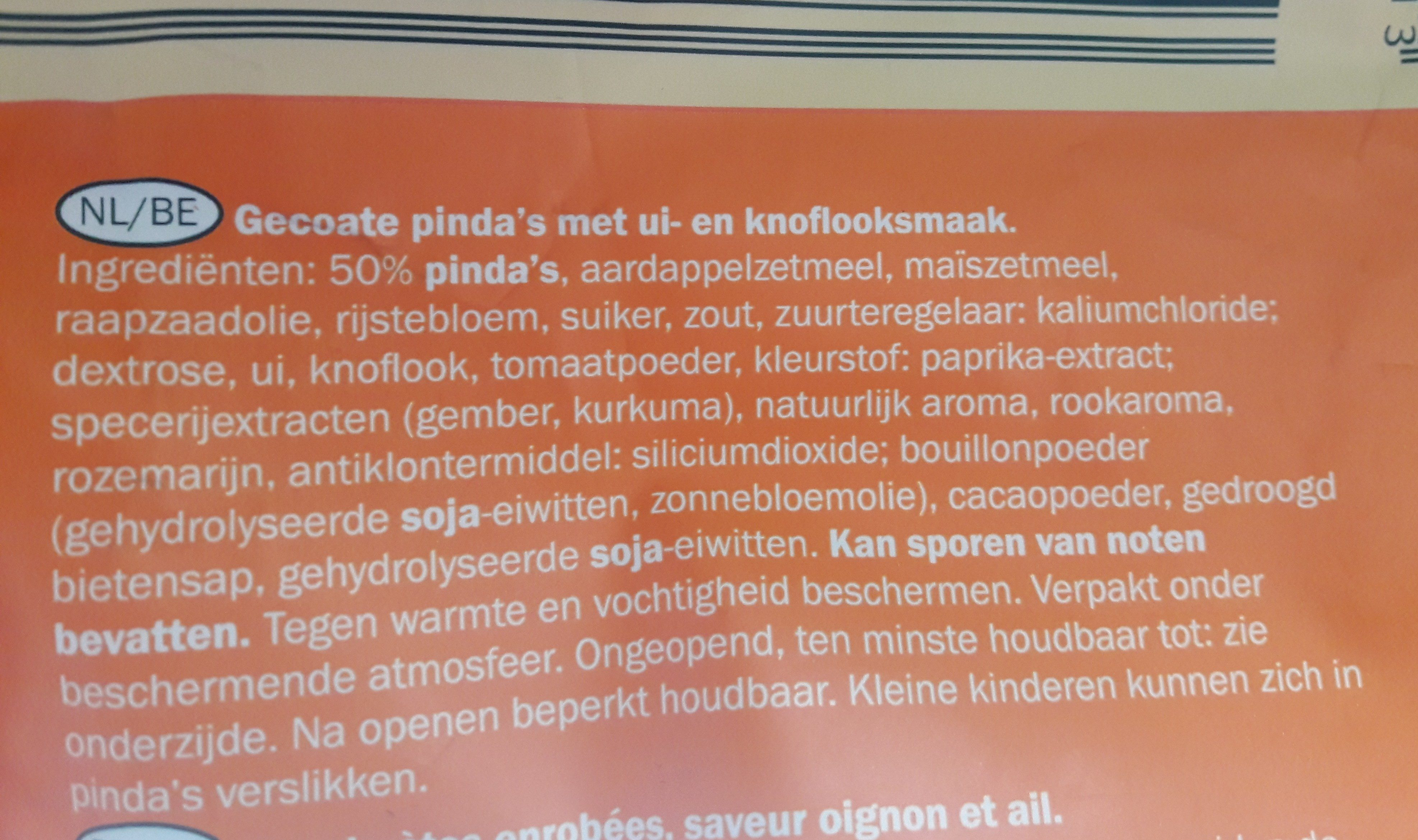 Crispy coated peanuts - Ingredients - nl