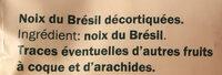 Paranusskerne - Ingrédients - fr