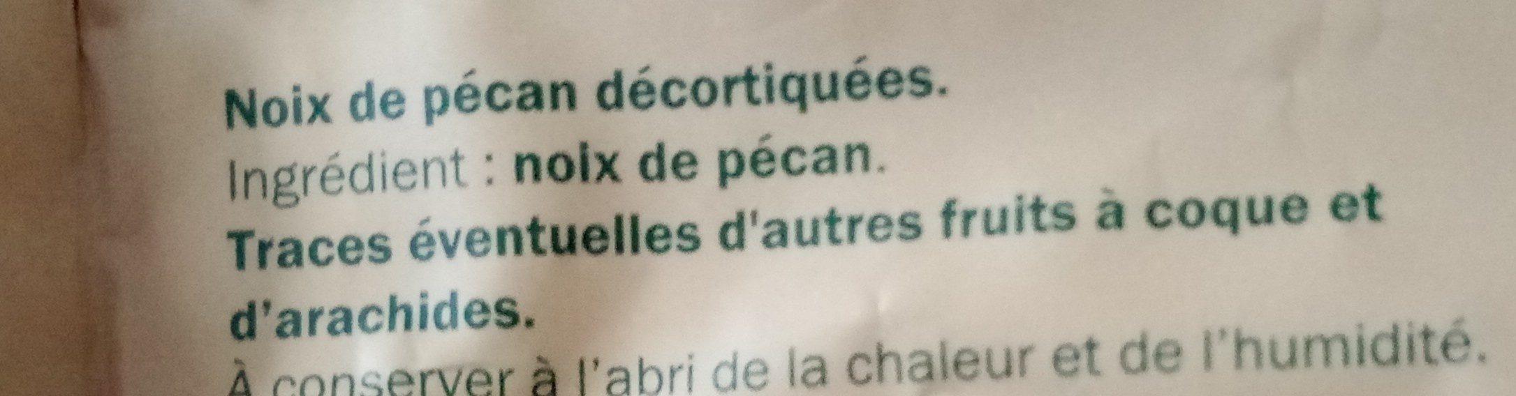 Noix de pécan - Ingrédients - fr